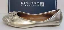 Sperry Size 7 M Gold Leather Ballet Flats New Womens Shoes