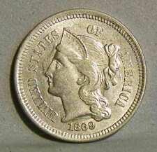 1869 THREE CENTS, NICKEL, Uncirculated