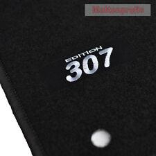 Velour Logo tapis de sol pour peugeot 307 sw Kombi 7 places à partir de Bj. 04/2002 - 2008