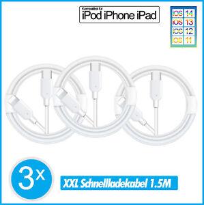 3x Lightning Schnell Ladekabel Usb C für iPhone 13 13 Pro  13 Pro Max 13 mini