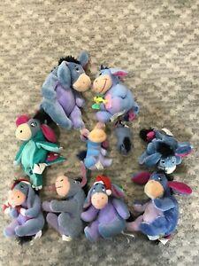 Eeyore Plush Stuffed Animal Toys  Figures Lot Of 10 Winnie The Pooh
