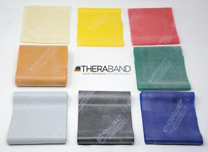 Original Thera-Band Übungsband Fitnessband 8 Stärken / 6 Längen 1 m - 10 m