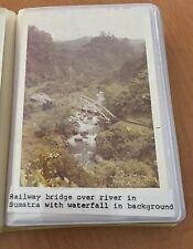 Vintage 1972 Sumatra, Indonesia Photo Album, 36 Color Photos