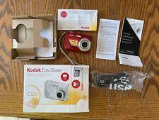 Kodak EasyShare C180 10.2MP Digital Camera - Red - w/box, manual, USB - no disk