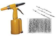 Pneumatic Hydraulic Air Riveter Pop Rivet Gun Tool PLUS 1000pc Rivet Assortment
