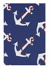 Nautical  Anchor Tablecloth EcoVinyl  Red White Blue 52 x 70 Rectangle