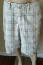 Quiksilver Men's Beige Plaid Casual Shorts Size 36