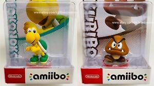 Goomba and Koopa Troopa Amiibo Super Mario Amiibos Figures Nintendo Rare