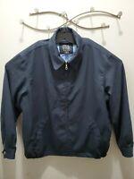 Jos A Bank Traveler Collection Men's Full Zip Navy Jacket Casual Sz Large L