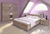 Bedroom furniture bed wardrobe bedside dressing table sideboard sonoma oak