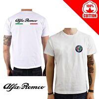 T-Shirt Alfa Romeo Giulietta Mito Stelvio brera Maglia cotone maglietta auto