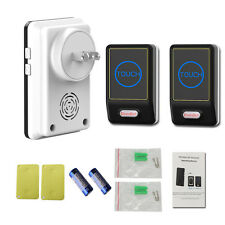 Saful New Touch Led Light Electric Door Bell 220V Wireless Button With 2 Button