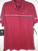 Nike Large DriFit Men's Arizona Cardinals On Field Apparel Polo Shirt NWT
