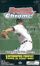 2009 Bowman Chrome Baseball Hobby Box (18 Packs, 1 Autograph)