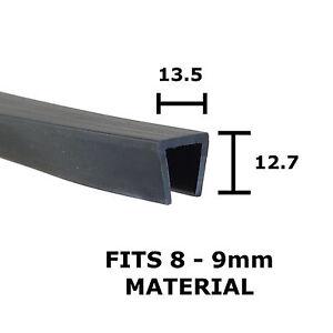 Rubber U Channel Edging Trim Seal Square 13.5mm x 12.7mm