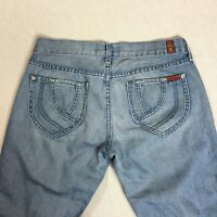 "7 For All Mankind Size 29 Low Rise Light 32"" Inseam Straight Leg Jeans"