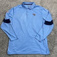 Men's Reebok Tennessee Titans Play Dry Polo Golf Shirt Large NFL Team Apparel