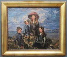 D.Sutherland MacColl (1859-1949) SCOTTISH Family Portrait ORIGINAL OIL PAINTING