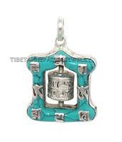 Nepalese pendant, turquoise pendant, prayer wheel Pendant, Tibet pendant, Nepal