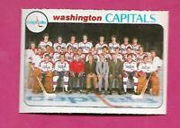 1978-79 OPC # 208 CAPIATALS  UNMARKED TEAM CHECKLIST NRMT+  CARD (INV# C3873)