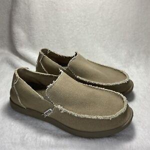 Crocs Santa Cruz Canvas Slip-on Casual Loafers Beige Tan (10128) Shoes Mens 8