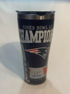 Tervis 30oz Stainless RARE Error Patriots Super Bowl Champions Back To Back 52
