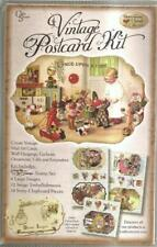 Vintage Postcards Storytime Kit Chipboard Stamps Images NEW Once Upon a Time