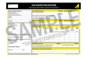 Gas Safe - Gas Inspection Record pad3