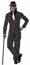 BONE COLLECTION SKELETON PRINT BLACK SUIT MEN'S SIZE X-LARGE HALLOWEEN COSTUME