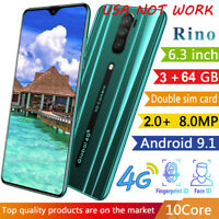 "RINO Ten Core 6.3"" 2.0+8.0MP 3G+64G GPS 4G SmartPhone Android 9.1 Unlocked EU"