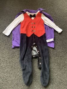 Baby Boys 9-12 Months F&F Halloween Outfit Dracula