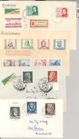 DDR, 5 verschiedene Briefe aus 1952-55 als Posten (26102)