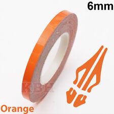 "6mm Self Adhesive Coachline Pin Stripe Vinyl Tape Craft Sticker 1/4"" ORANGE"