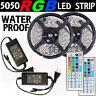 10M RGB 5050 SMD Waterproof 300 LED Strip light +44 Key Remote+12V Power Supply