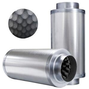 "Hydroponics Indoor Grow Inline Duct Extractor Fan Silencer Low Noise 6"" 150mm"