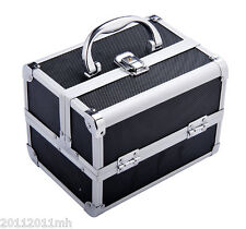 Professional Cosmetic Train Case w/ Mirror Alu. Jewellery Make Up Box Vanity