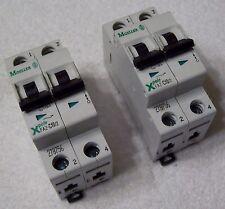 Xpole Moeller 2-pole - FAZ-C10/2 415V 15kA IEC Circuit Breaker (Lot of 2)