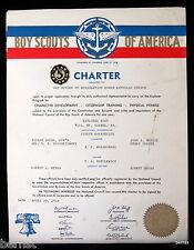 1954 BOY SCOUT - POST CHARTER - POST 161- MOUNT CARMEL, PENNSYLVANIA