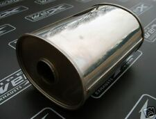 """Stainless Steel Exhaust Box 3"""" Bore 8.5x6.5""""x300mm Long"""