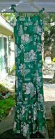 Vintage Pomare Hawaii Hawaiian Maxi Dress w/ Spaghetti Strap * Size M * RN 37145