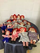vintage raggedy Ann and Andy doll lot of 17 various ages Knickerbocker ?