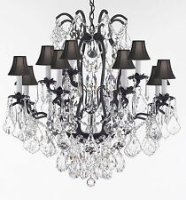 Wrought Iron Crystal Chandelier Lighting Dressed With High  Quality Diamond Cut