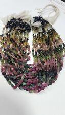 "AAA Multi Tourmaline Smooth Nugget Beads Oval Shape 6-10 .mm 10"" Gemstone"