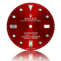 For Rolex Submariner Stainless Steel RED Diamond Dial