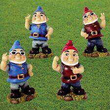Funny Garden Gnomes Cheeky Rude Gnome Statue Set Naughty Bobble Head Wobble Gift