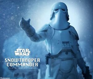 SIDESHOW SNOWTROOPER COMMANDER Star Wars 1:6 Scale Figure New 100% Seller USA
