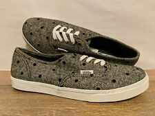 Vans New Authentic Lo Pro Tweed Dots Navy/True White Lady size USA 7