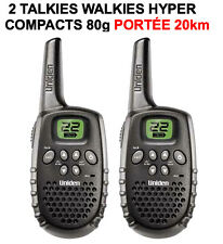 2 TALKIES WALKIES VHF UHF PORTEE 20KM! QUALITE MARINE 22 CANAUX! LEGERS SOLIDES