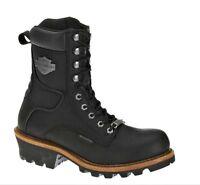 Harley-Davidson® Men's Tyson Logger Black Leather Motorcycle Boots D95188