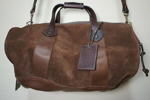 $795 | USED ONCE RARE FILSON RUGGED SUEDE DUFFLE BROWN LEATHER STRAP